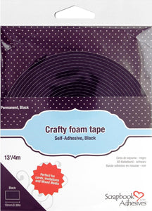 Scrapbook Adhesives By 3L 3D Foam Crafty Tape Black 13ft