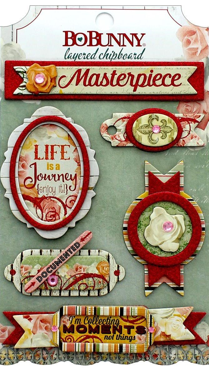 Bo Bunny Collection Aryia's Garden Layered Chipboard