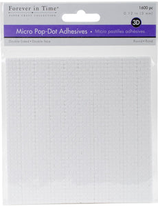 MultiCraft 3D Pop Dots Dual-Adhesive Micro Foam Adhesives