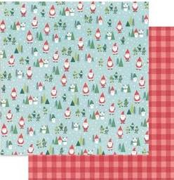 "Pebbles Collection Cozy & Bright Paper 12x12"" Santa Land"