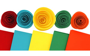 Summer colors cardstock perfect for paper flowers