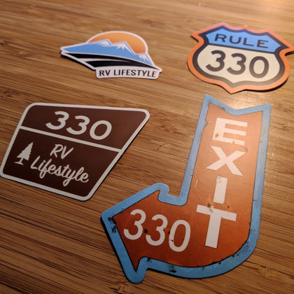RV Lifestyle 330 Sticker Pack