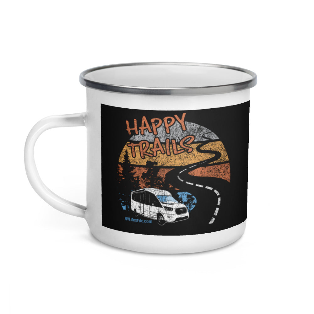 Happy Trails Enamel Mug