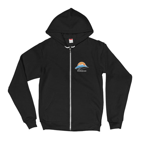 RV Lifestyle Men/Women Hoodie - Black, Dark Heather Grey, Navy, Sea Blue