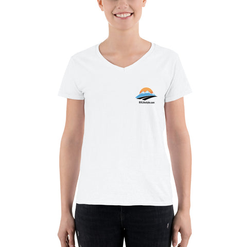 RV Lifestyle Women's Casual V-Neck Shirt