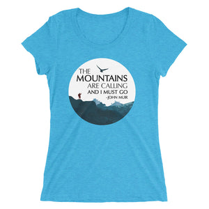 The Mountains Are Call - Ladies' short sleeve t-shirt