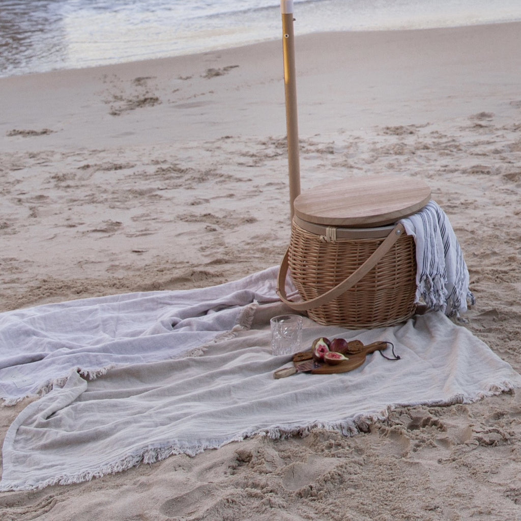 Reversible Beach Blanket | Ivory