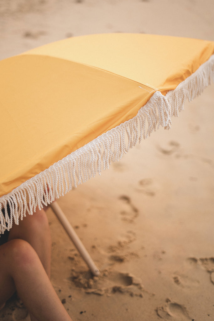 Premium Beach Umbrella Saffron