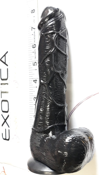7.5 Morpheus The Black Dreamer - Realistic Vibrating and Rotating Flesh Dildo, Exclusive on www.masalatoys.com