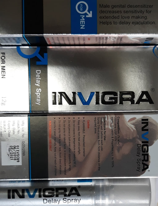 Invigra Delay Spray for MEN, Exclusive on www.masalatoys.com