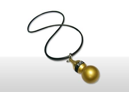 Discreet Gold Gourd Neck Chain Vibrator, Exclusive on www.masalatoys.com