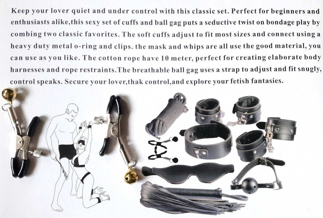 Ultimate Fantasy BDSM Kit only at www.masalatoys.com, Exclusive  on www.masalatoys.com