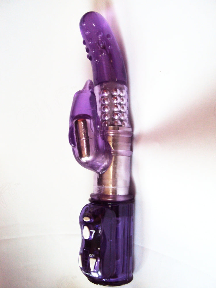 Wild Orgasm Heavy Duty Rabbit Vibrator with Dolphin Clitoral Stimulator, Exclusive on www.masalatoys.com