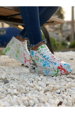 Mixed Printed Mid Top Sneaker CH265