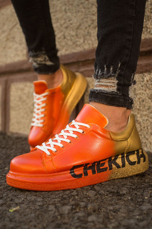 Sneakerjeans Orange Graffiti Sneaker CH433