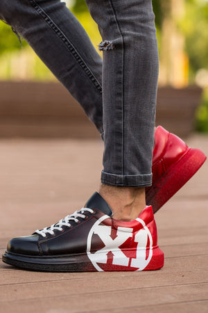 Sneakerjeans Black Red Graffiti Sneaker CH445