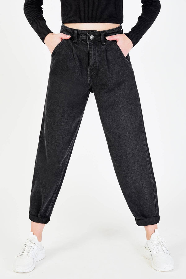 Black Mom Jeans for Women PN2361 - Sneakerjeans