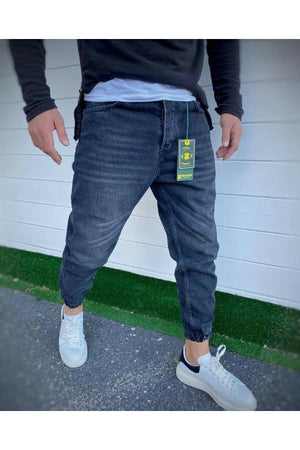Sneakerjeans Black Checkered Jogger DR5283