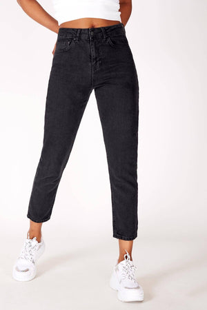 Gray Mom Jeans for Women 21104 - Sneakerjeans