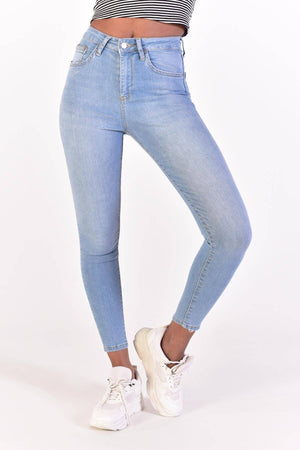Sneakerjeans Blue High Waisted Jeans PN6695