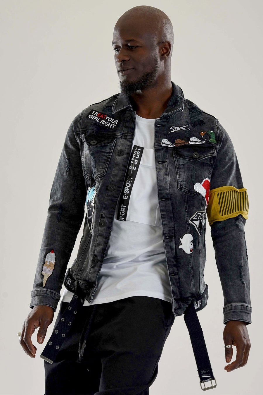 Sneakerjeans Patched Jeans Jacket DR3795
