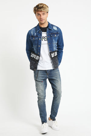 Sneakerjeans Ripped Skinny Jeans Jacket DR4807