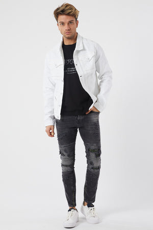 Sneakerjeans White Jeans Jacket DR3465