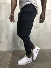 Load image into Gallery viewer, Navy Banding Casual Jogger Pant A56 Streetwear Jogger Pants - Sneakerjeans