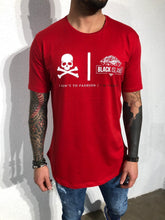 Load image into Gallery viewer, Red Oversize Skull Printed T-Shirt BL150 Streetwear T-Shirts