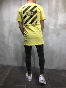 Yellow Printed Oversize T-Shirt A16 Streetwear T-Shirts