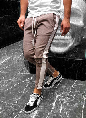 Brown Striped Jogger Pant KB129 Streetwear Jogger Pants - Sneakerjeans