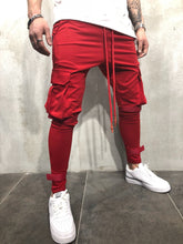 Load image into Gallery viewer, Red Jogger Pant A55 Streetwear Jogger Pants