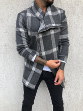 Load image into Gallery viewer, Checkered Asymetric Jacket B295 Streetwear Asymetric Jacket