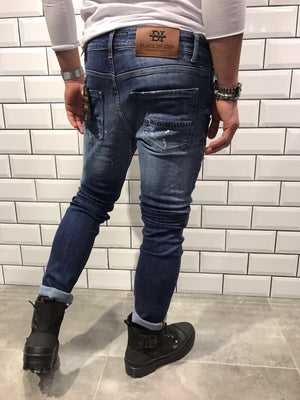Distressed Slim Fit Denim B7 Streetwear Denim Jeans - Sneakerjeans