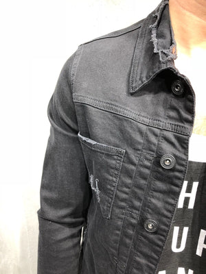 Black Denim Jacket A50 Streetwear Denim Jacket - Sneakerjeans
