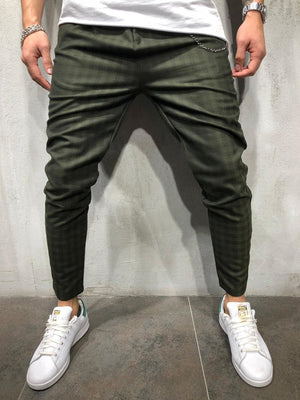 Khaki Plaid Checkered Casual Pant 3978 Streetwear Casual Pants - Sneakerjeans