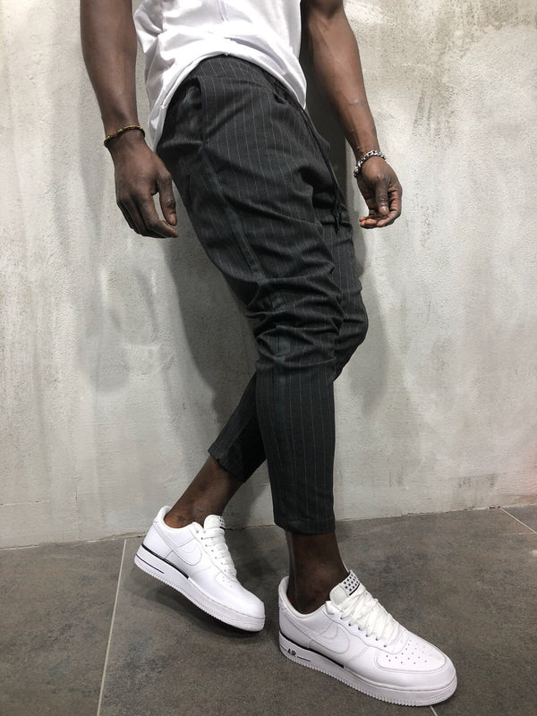 Anthrazit Banding Casual Jogger Pant A56 Streetwear Jogger Pants - Sneakerjeans