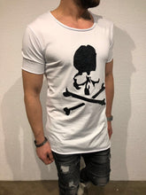 Load image into Gallery viewer, White Skull Printed T-Shirt B61 Streetwear T-Shirts - Sneakerjeans