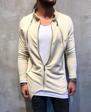 Load image into Gallery viewer, Beige Asymetric Zipper Oversize Jacket SJ203 Streetwear Jacket