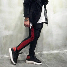 Load image into Gallery viewer, Black Red Stripe Jogger Pant SJ252 Streetwear Jogger Pants - Sneakerjeans