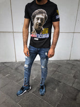 Load image into Gallery viewer, Black Escobar Carcel Otto Judicial Printed T-Shirt OT19 Streetwear T-Shirts