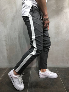 Gray Side Striped Casual Jogger Pant A113 Streetwear Jogger Pants