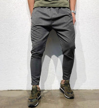 Load image into Gallery viewer, Gray Striped Jogger Pant B145 Streetwear Jogger Pants