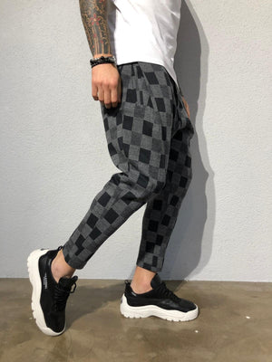 Anthracite Checkered Jogger Pant B355 Streetwear Jogger Pants - Sneakerjeans