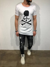 Load image into Gallery viewer, White Skull Printed T-Shirt B61 Streetwear T-Shirts