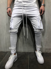 Load image into Gallery viewer, White Jogger Pant A55 Streetwear Jogger Pants