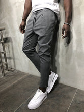 Load image into Gallery viewer, Gray Banding Casual Jogger Pant A56 Streetwear Jogger Pants
