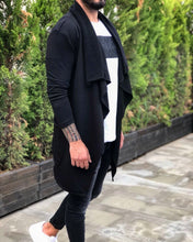 Load image into Gallery viewer, Black Oversized Hoodie Cardigan B213 Streetwear Cardigan