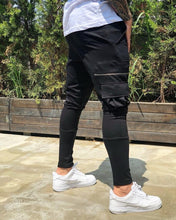 Load image into Gallery viewer, Black Cargo Pocket Jogger Pant BL233 Streetwear Jogger Pants