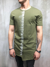 Load image into Gallery viewer, Khaki Printed Oversize T-Shirt A71 Streetwear T-Shirts